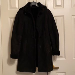 Real shearling 3/4 coat